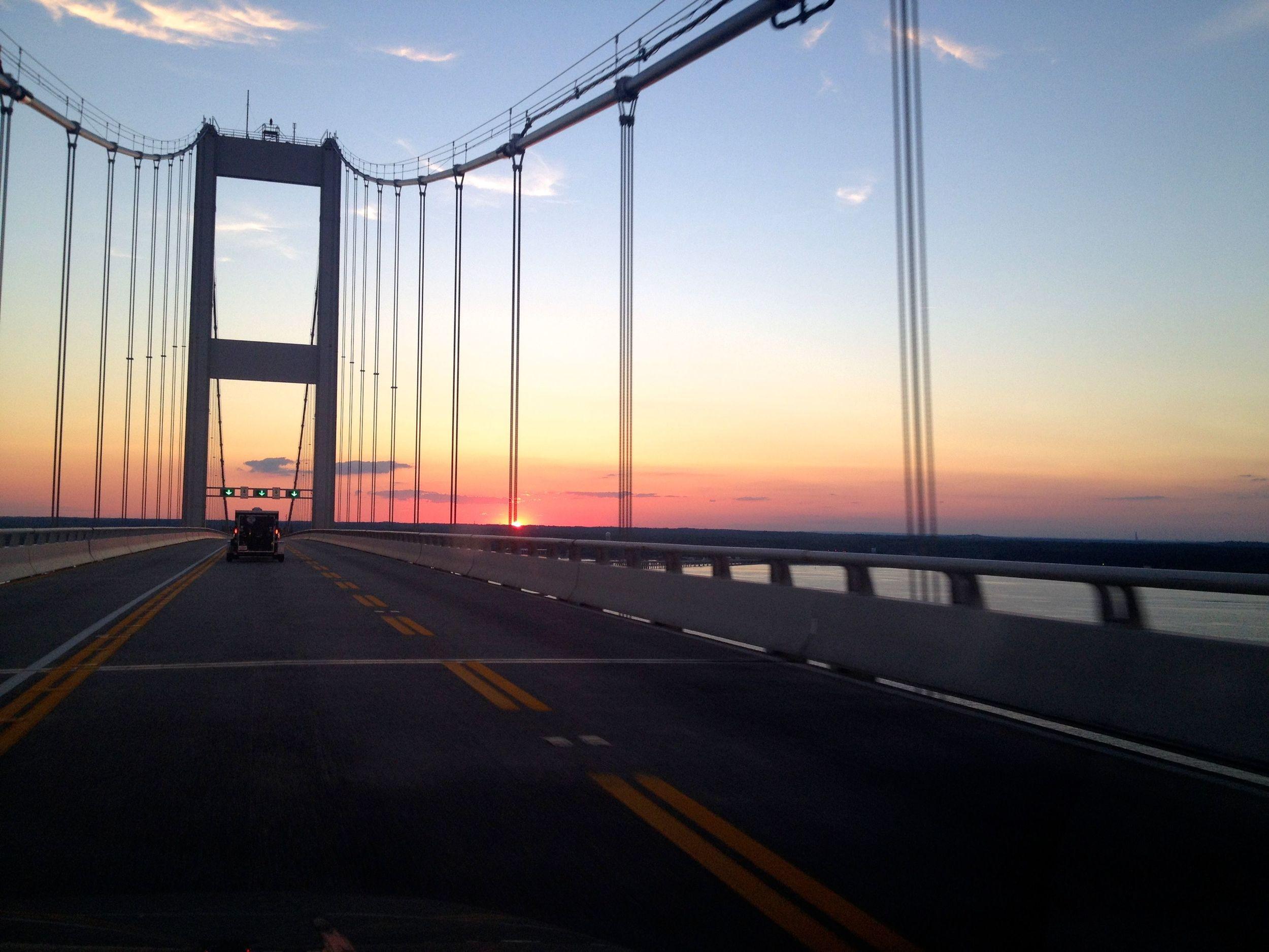 Sunset over the Bay Bridge