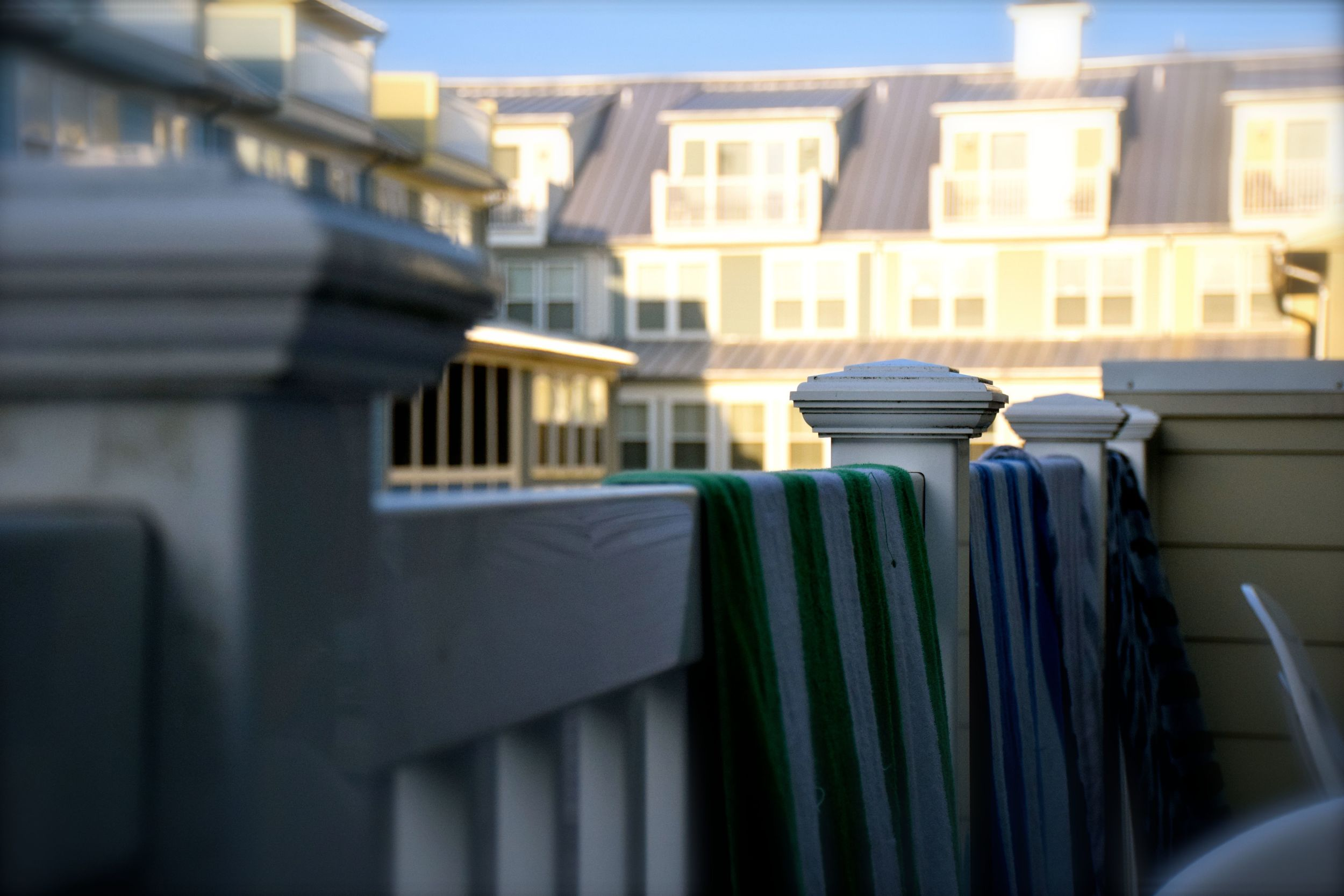 Drying our towels