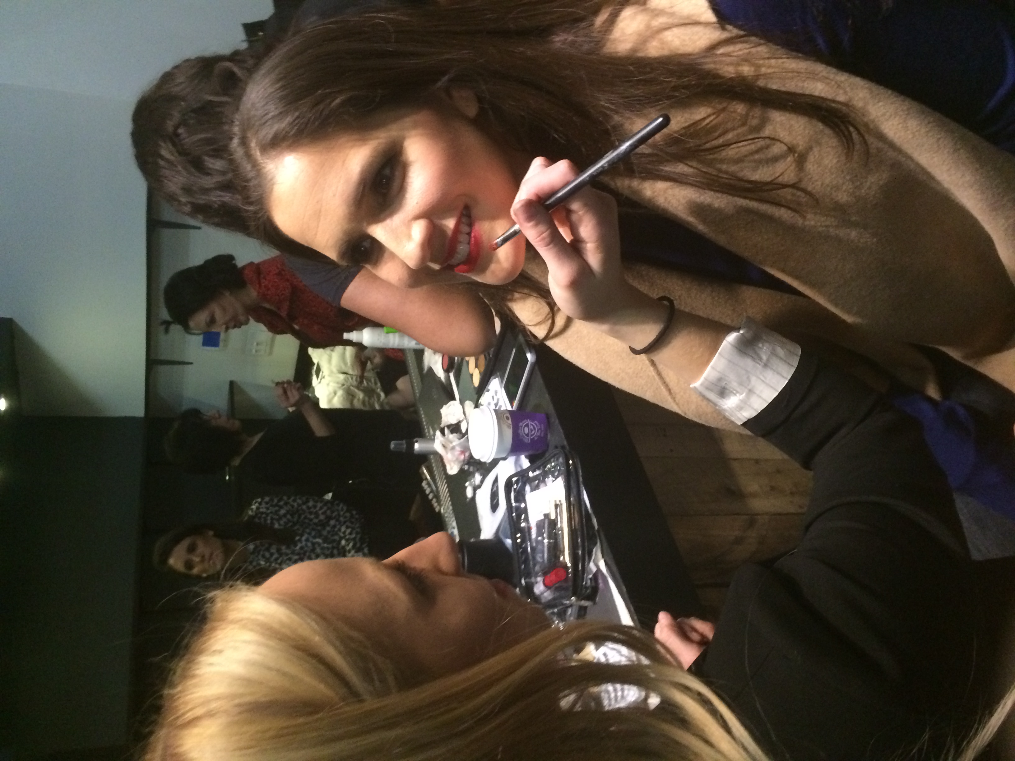Make-up before the show
