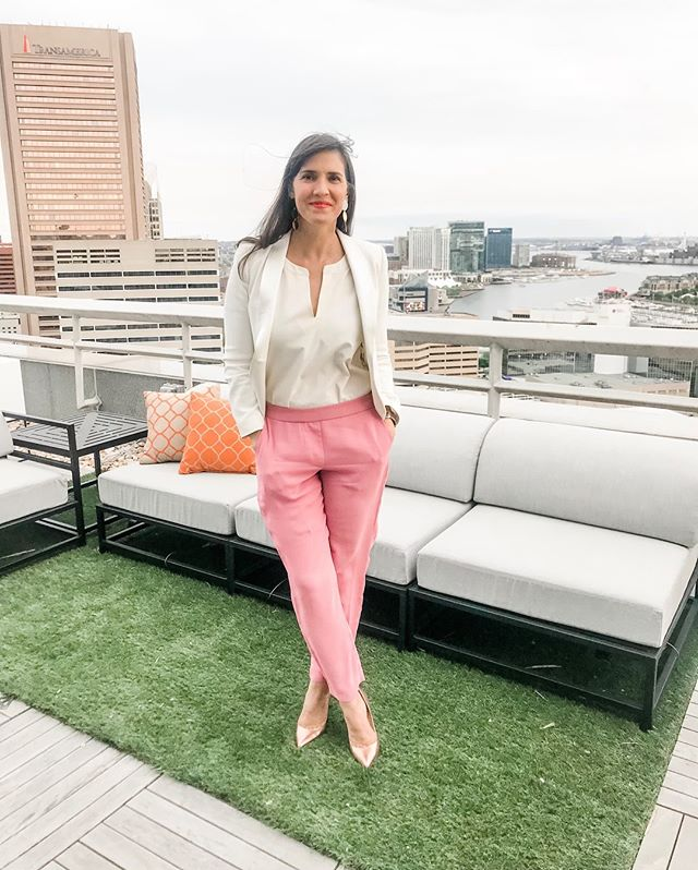"Thank you @theofficialpandora for a ""charming"" evening, this gorgeous view and an exciting look at your upcoming summer collection! — Did you know that at least 30 pairs of hands touch every Pandora piece during the creation process? — #pandorajewelry #baltimore #discoverbaltimore #charmcity #bmore #funfact"