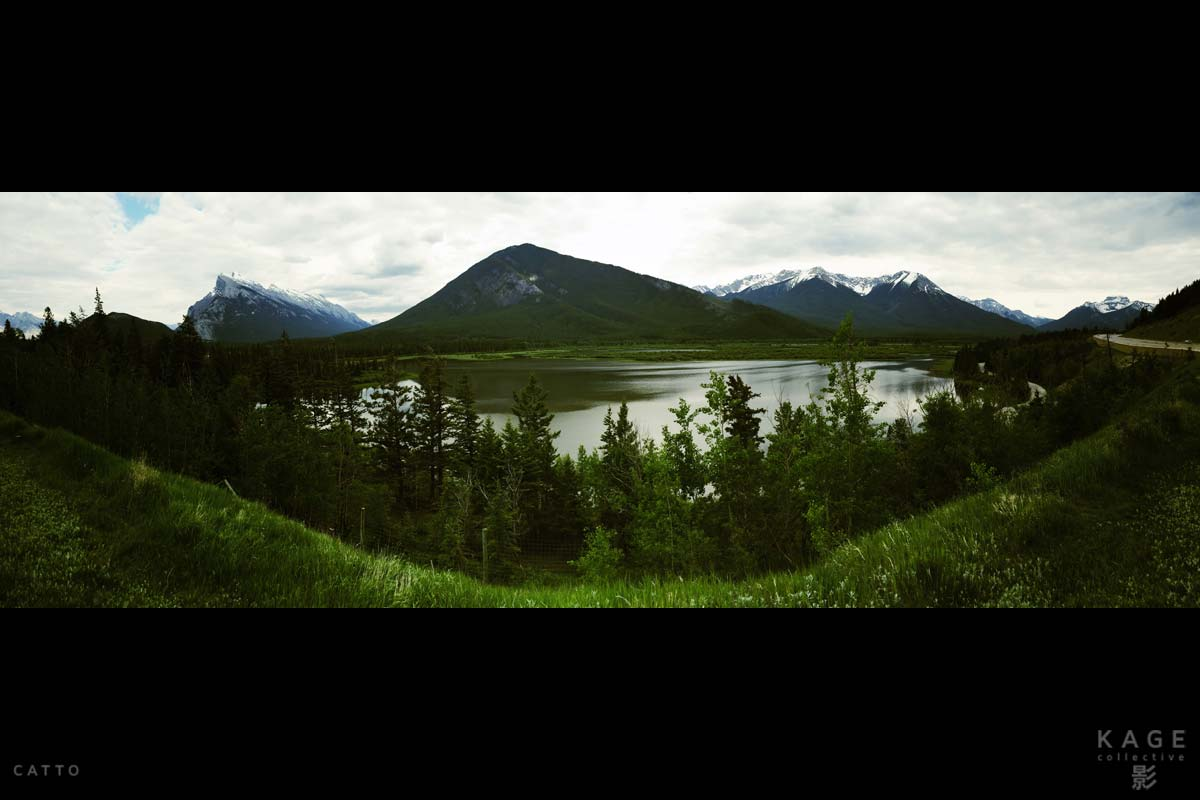 Terrible  sweep panorama in Banff, Canada, with iPhone 5S. (Too much stuff in the near foreground!)