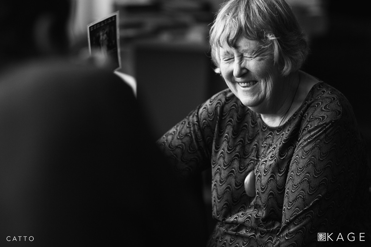 Ans Westra being photographed at the Embassy Theatre in Wellington, 2008.
