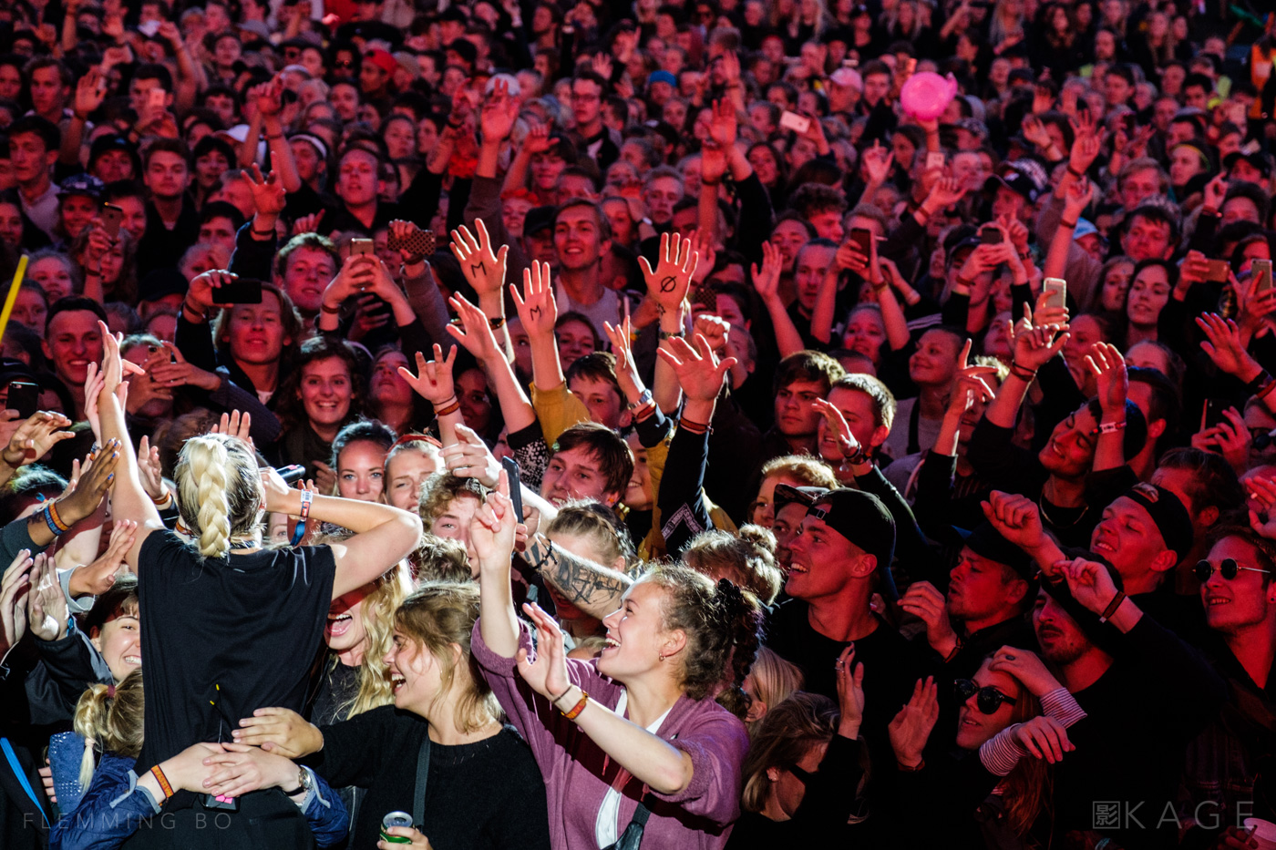 MØ performs at Orange Stage at Roskilde Festival in Roskilde, Denmark on July 2nd, 2016