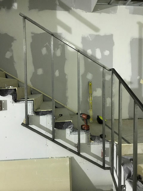 The angle of adjoining corners presented as a difficulty, however we managed to accommodate and fitted the steel balustrade stairs to a exceptionally high standard.