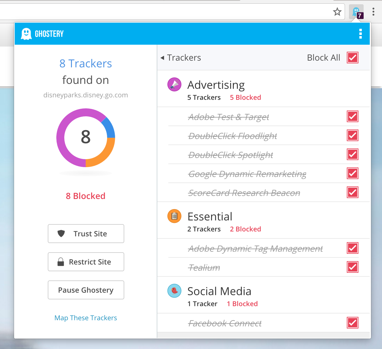 Updated design for Ghostery 7.0