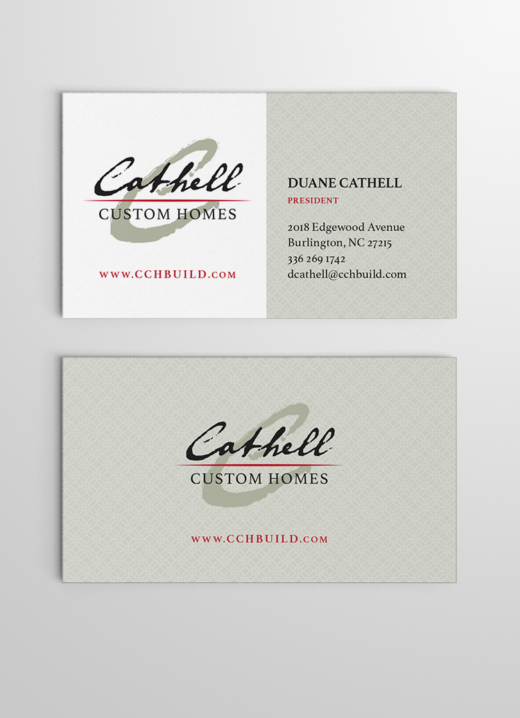 Cathell Homes busines card