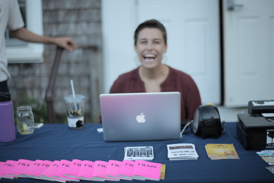 You can order your tickets online, or purchase them at the box office set up outside the Chilmark Community Center on Wednesday nights. Photo by Love Ablan.