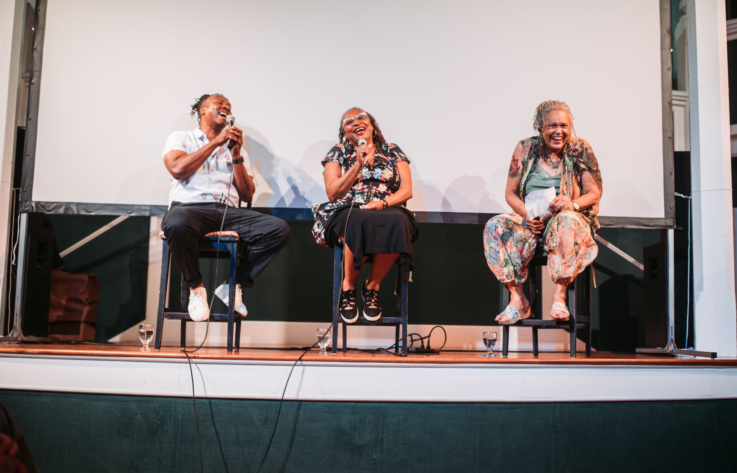 Discussion with director Roger Ross Williams and producer Lisa Cortés, moderated by Charlayne Hunter-Gault following THE APOLLO. Photo by Reece Robinson.
