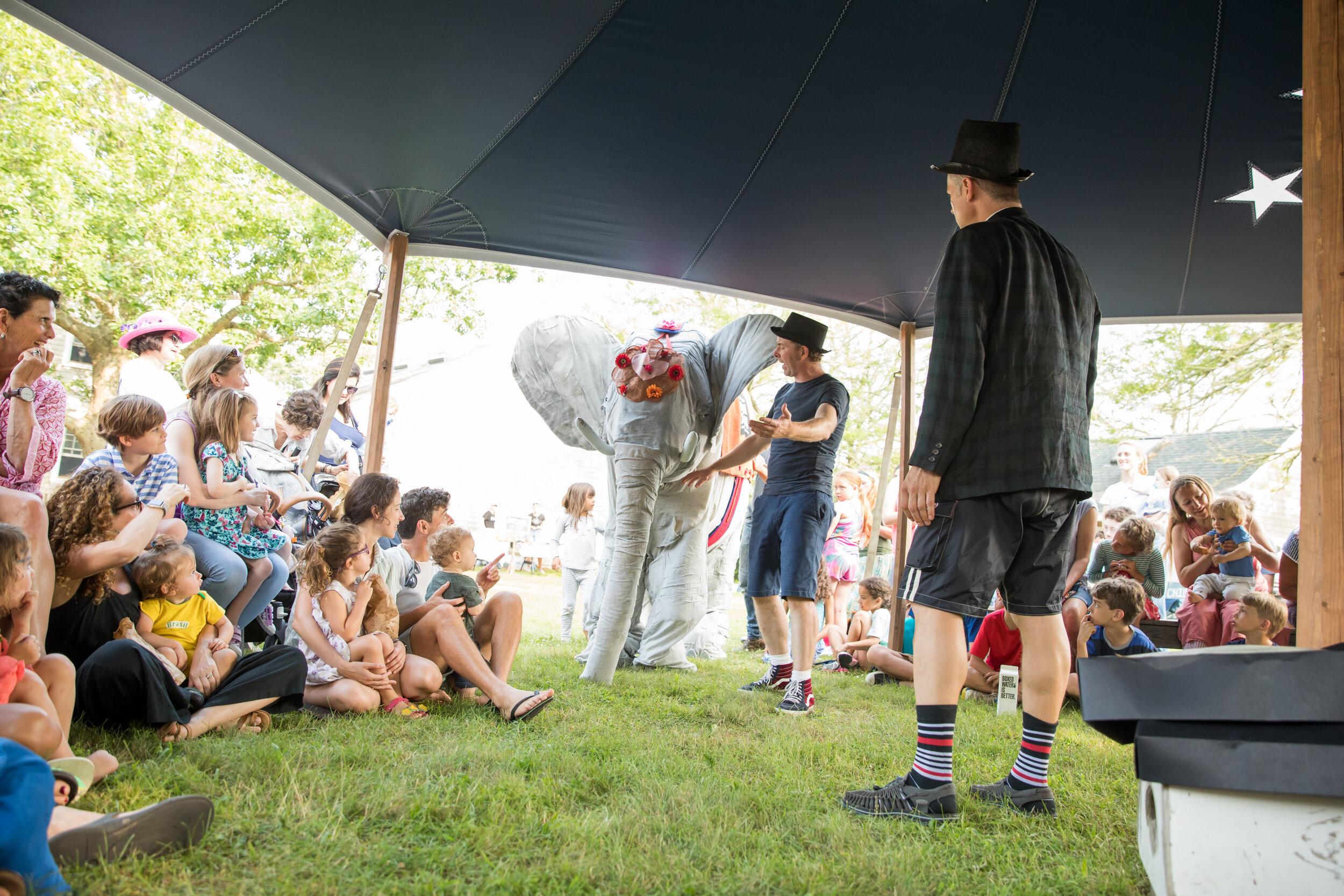 Ellie the Elephant performs in a show under the Big Top at a free Cinema Circus. Photo by Maria Thibodeau.