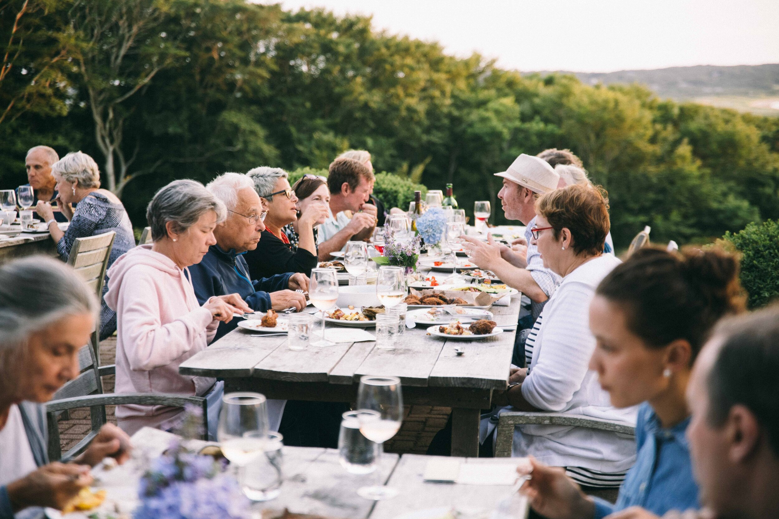 Dinner at the Beach Plum Inn with guest of honor Henry Louis Gates, Jr., before RECONSTRUCTION. Photo by Reece Robinson.