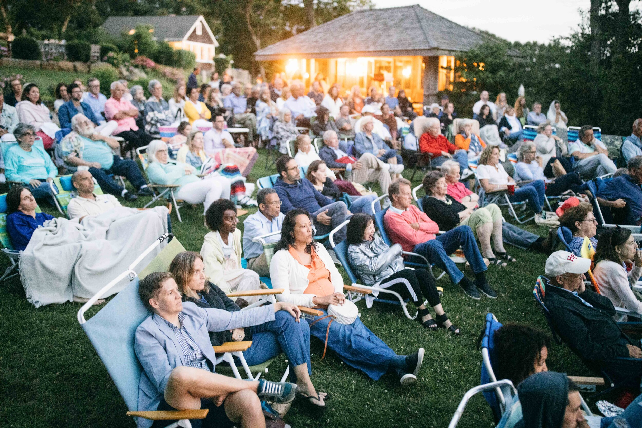 RECONSTRUCTION outdoor presentation by Henry Louis Gates, Jr., at the Beach Plum Inn. Photo by Reece Robinson.