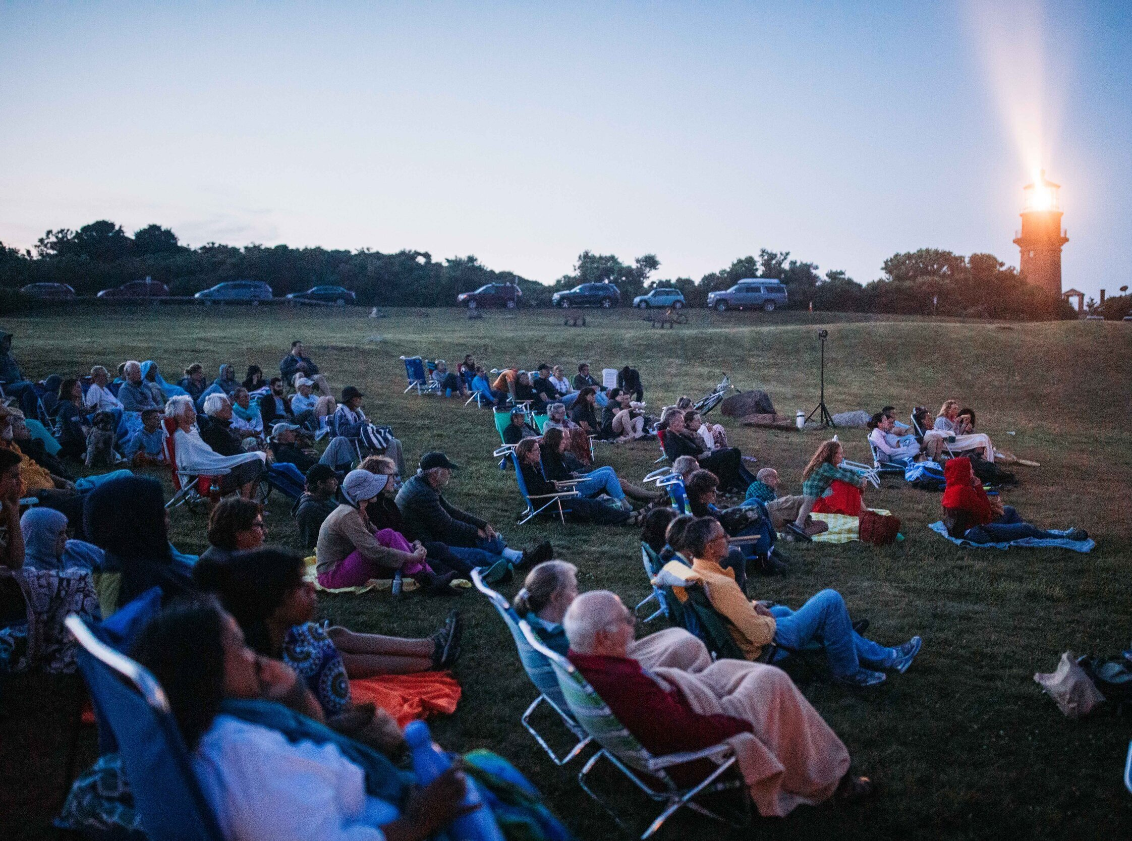 Free outdoor screening of EATING UP EASTER at the Aquinnah Circle. Photo by Reece Robinson.