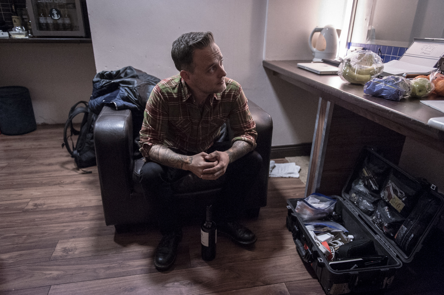 Dave Hause backstage at the Academy Dublin