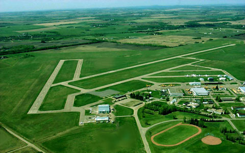 The Red Deer Airport is located adjacent to Harvard Park.
