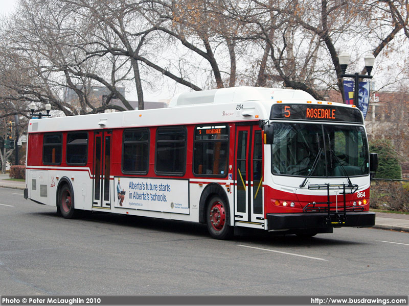 The Red Deer  Transit Department provides bus transportation services along Red Deer's main corridors and streets.