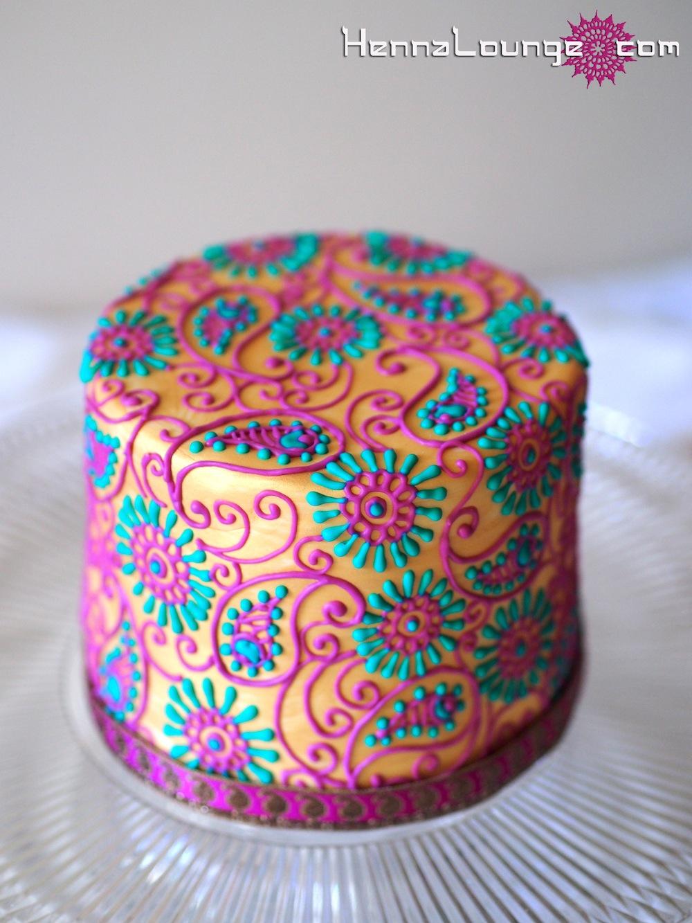 Gold Bollywood Cake