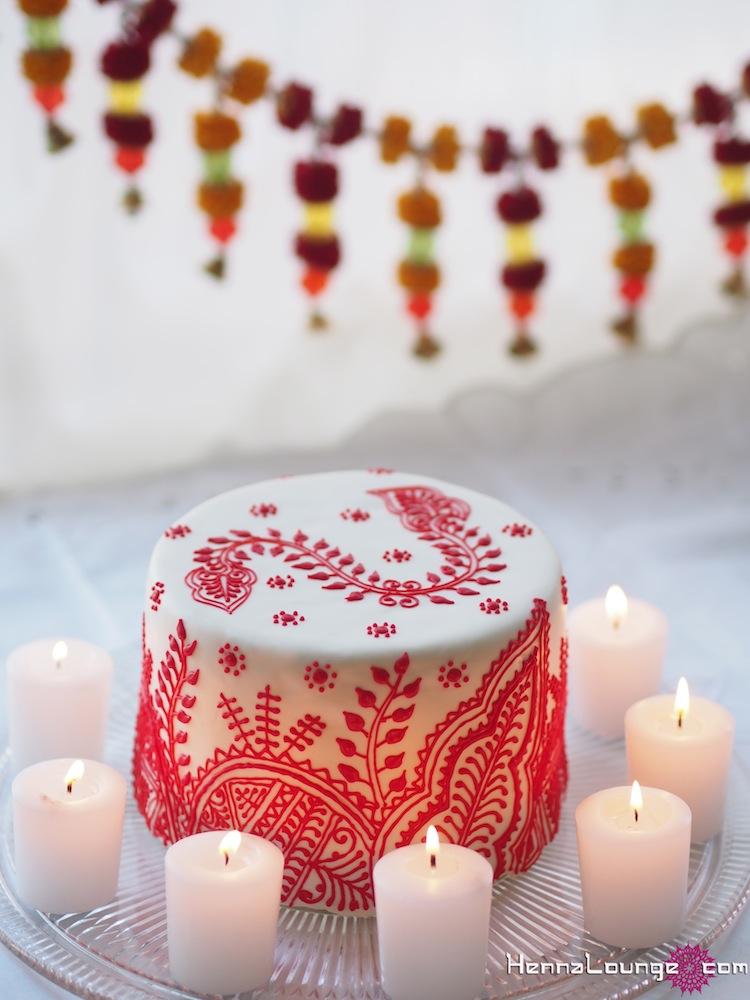 Moroccan mehndi cake