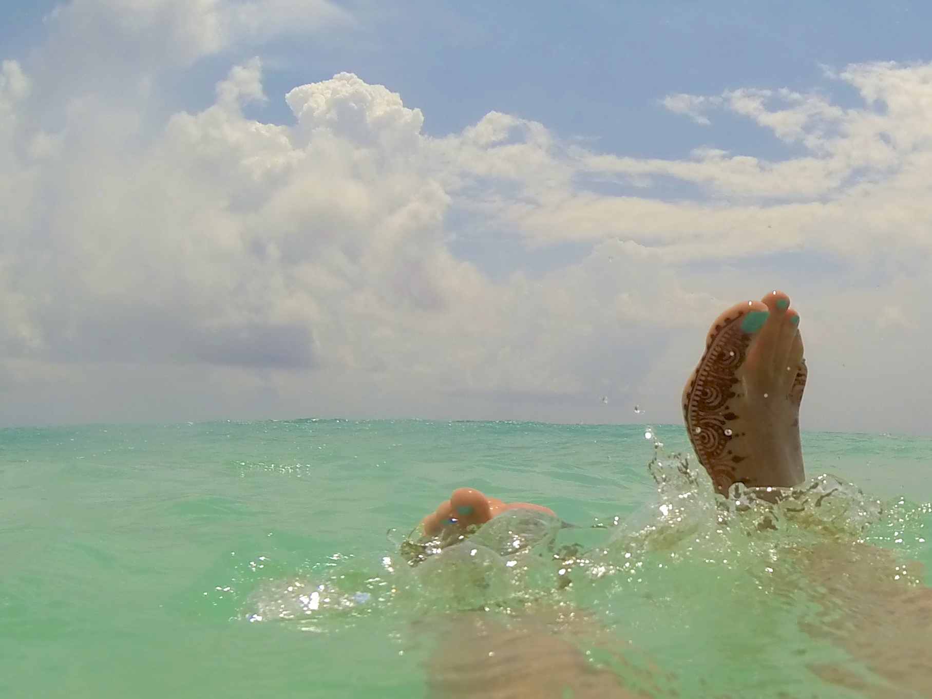 Swimming in the Caribbean