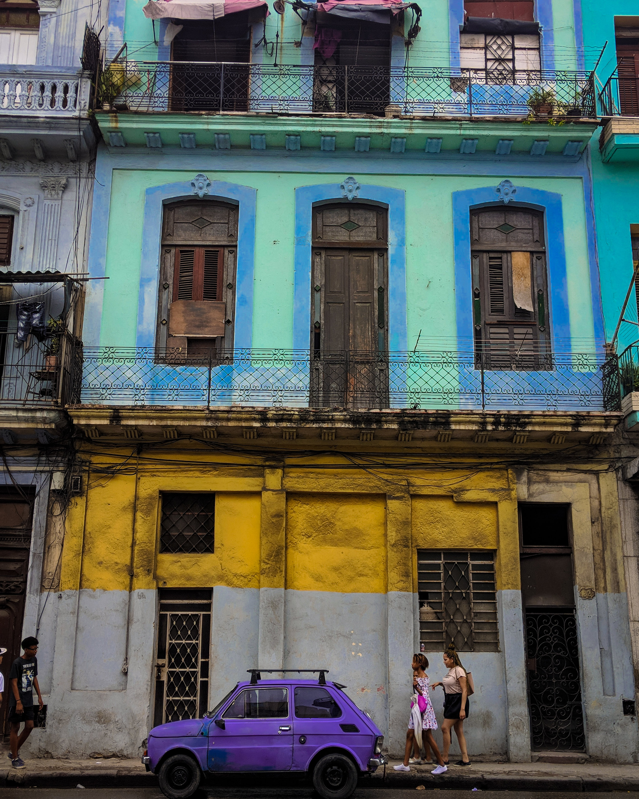 The colors of  daily life in Havana, Cuba.