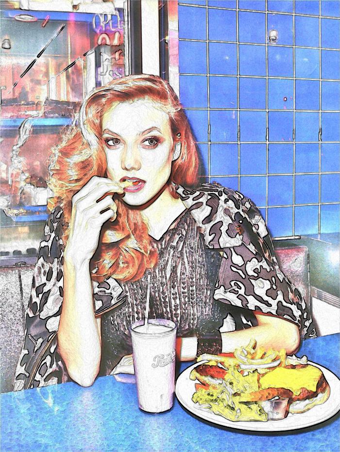 Illustration based on Terry Richardson photography