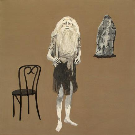 wayfaring stranger  acrylic on canvas © 2012 (30 x 30cm)