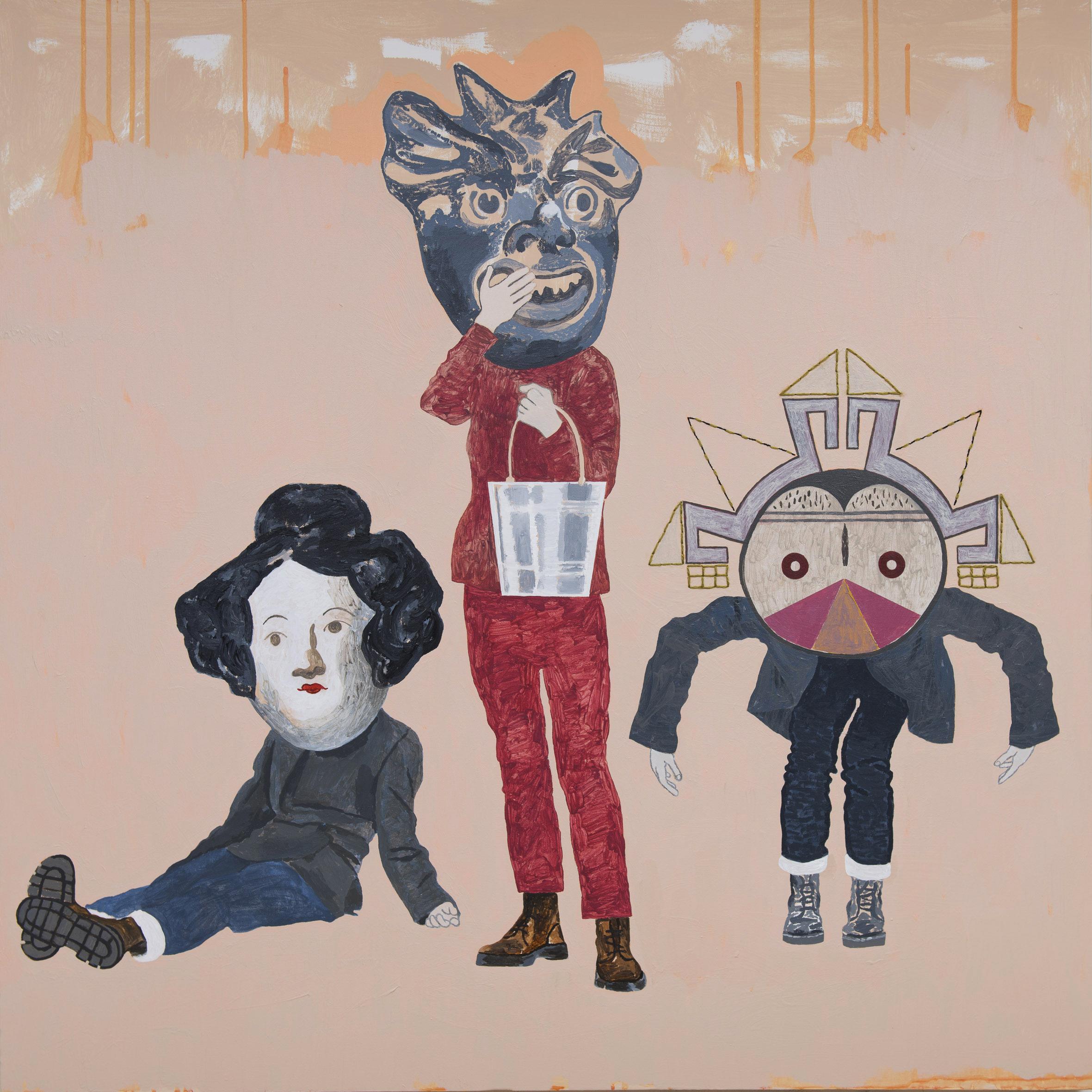 idol gossip acrylic on canvas © 2017 (101 x 101cm)