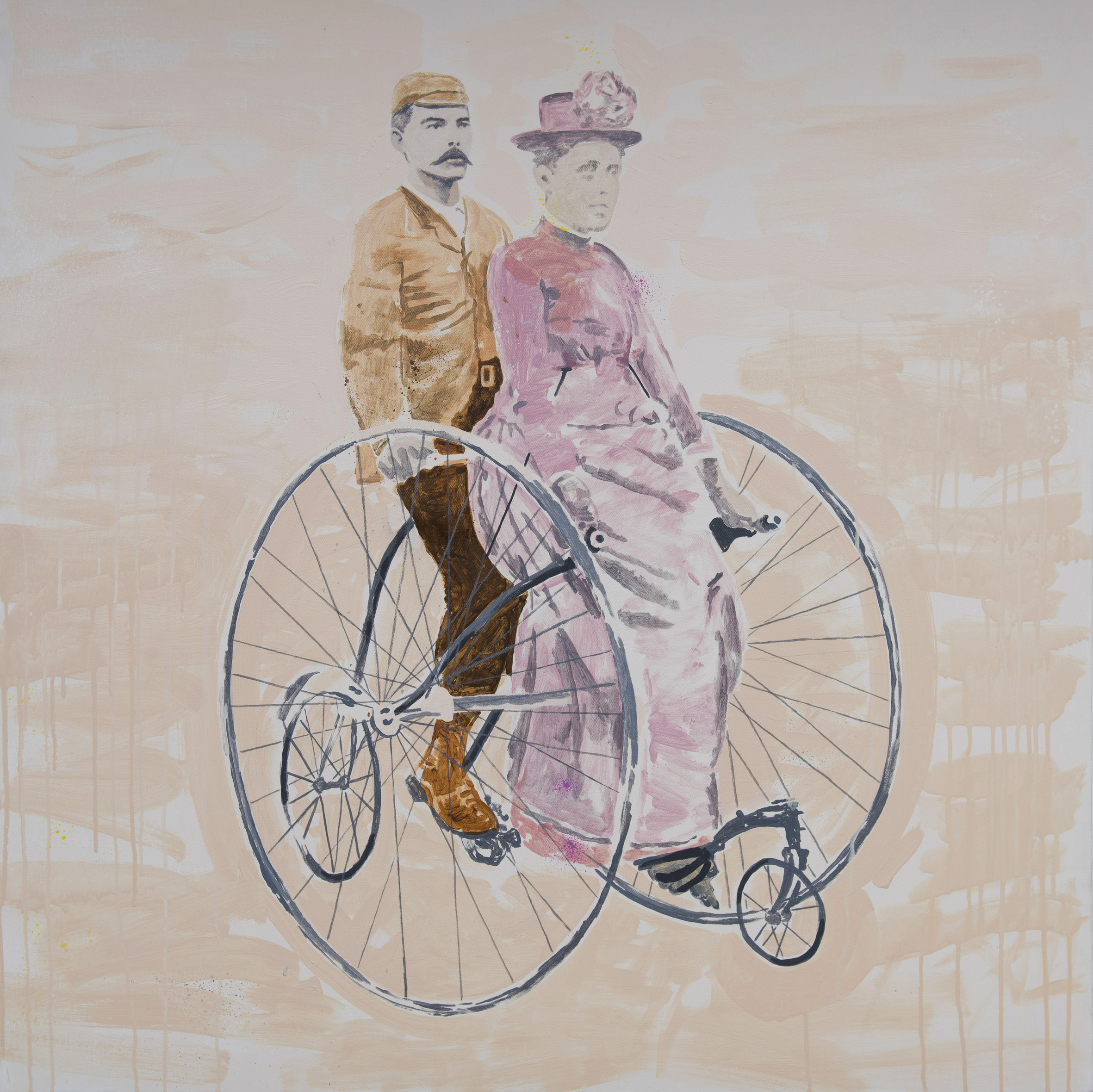 the ride  acrylic on canvas © 2011 (100 x 100cm)