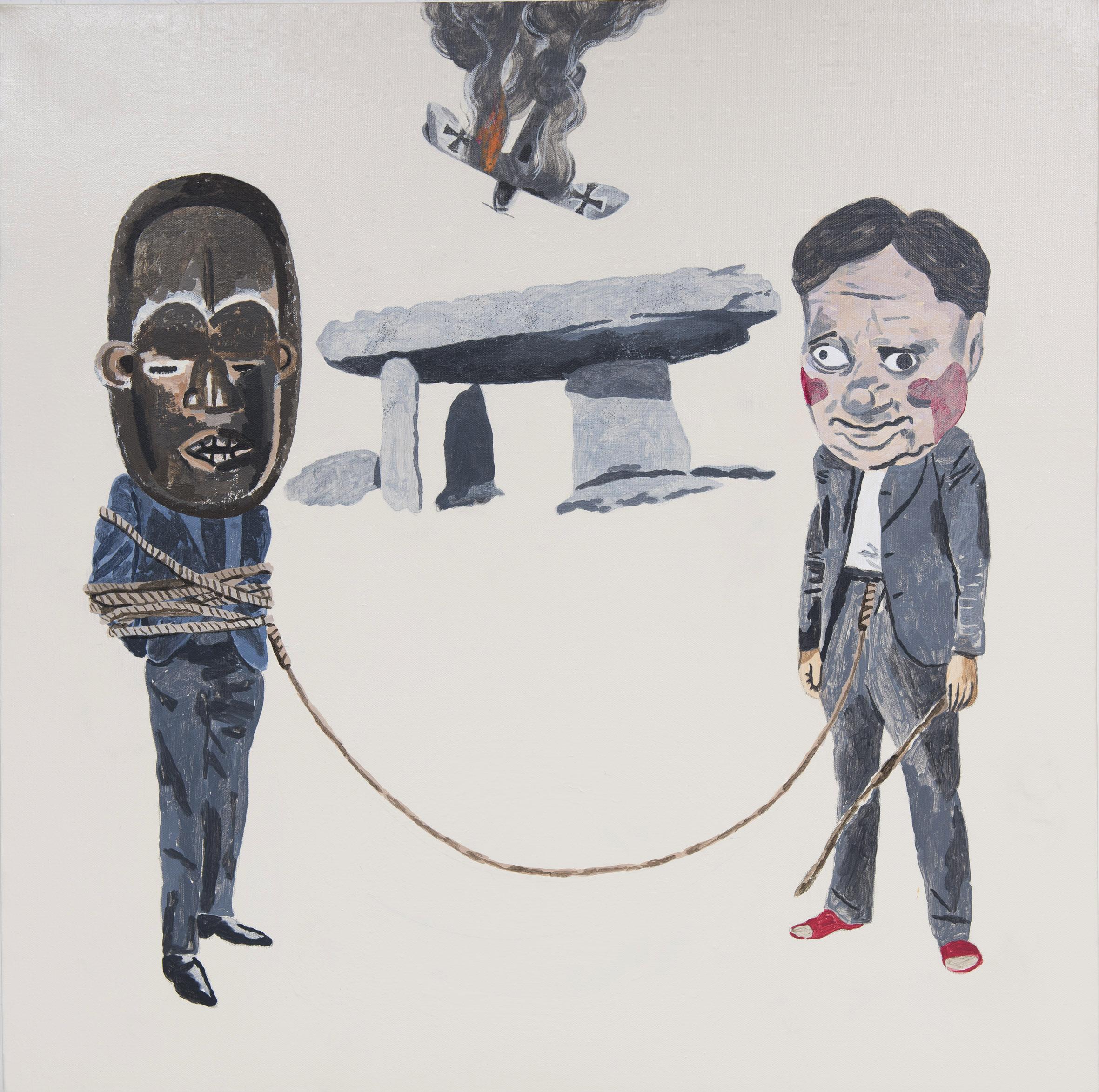 the joke  acrylic on canvas © 2012 (76 x 76cm)