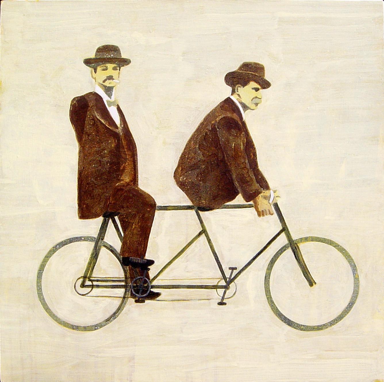 the cyclists  acrylic on canvas © 2007 (60 x 60cm)