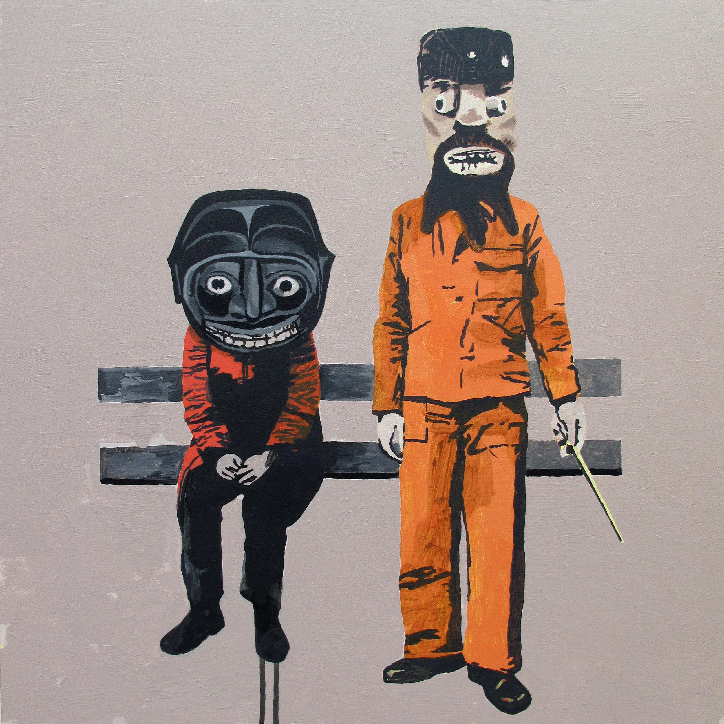 ordinary monsters  acrylic on canvas © 2010 (61 x 61cm)