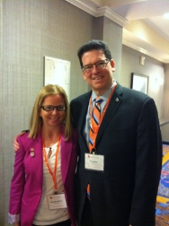 Alexandra with Bruce Skyer, CEO National Kidney Foundation