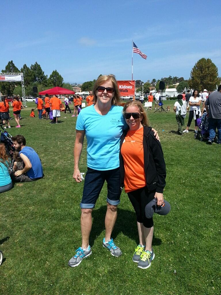 Dina Macdonald, RN - UCSD Transplant Care Coordinator (L) with Alexandra Harrison (R)