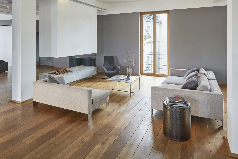 Architekturfoto des Lofts im New Yorker Hotel in Köln, Sitzecke, Innenaufnahme