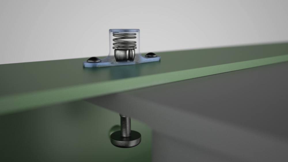 CGI 3d-Visualisierung eines Befestigungssystems von SFS