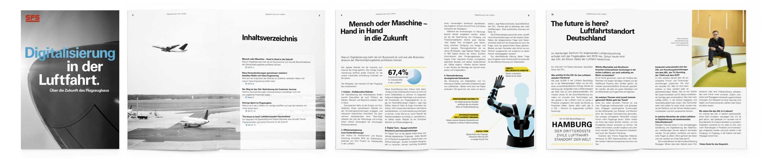 """Ausschnitt aus dem Whitepaper """"Digitalisierung in der Luftfahrt. Über die Zukunft des Flugzeugbaus"""" für SFS Aircraft Components"""