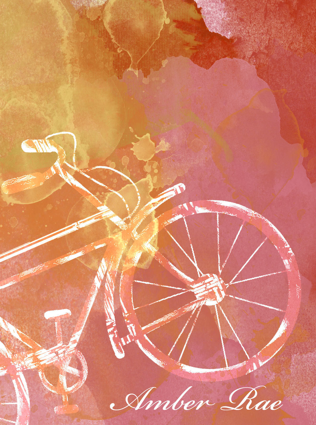 Autumn Watercolor Bicycle