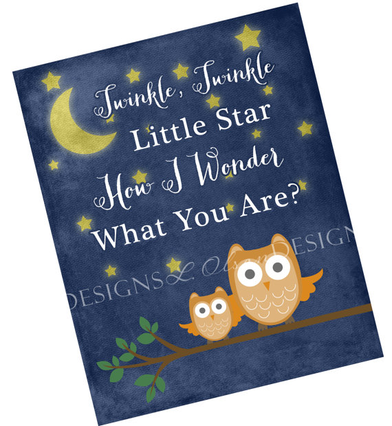 Night Owl Artwork for Kids from L. Olson Designs on Etsy