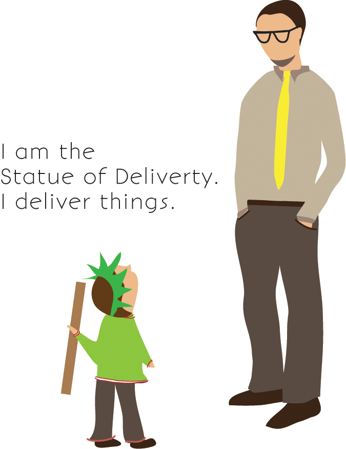 statue of liberty illustration, pretend play, kid sketches