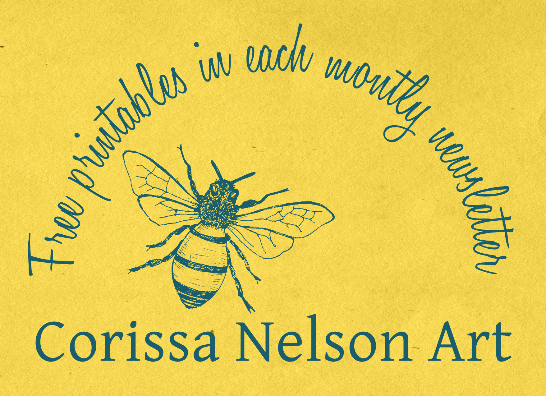 Get a free honey bee printable when you subscribe!