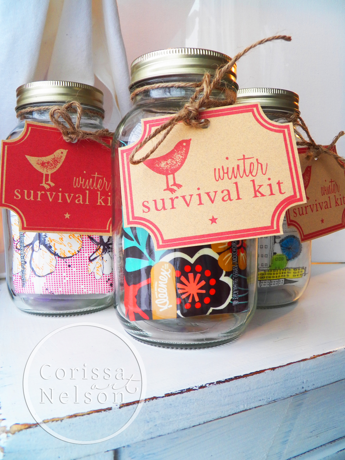 Winter Survival Kit Tags