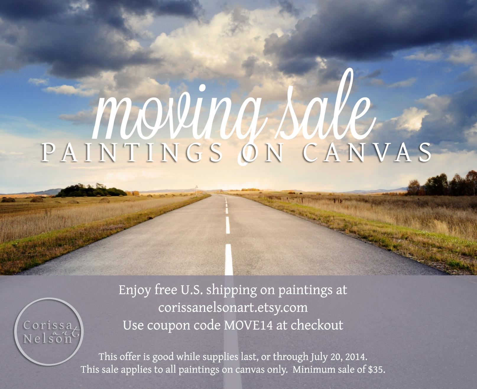 painting moving sale