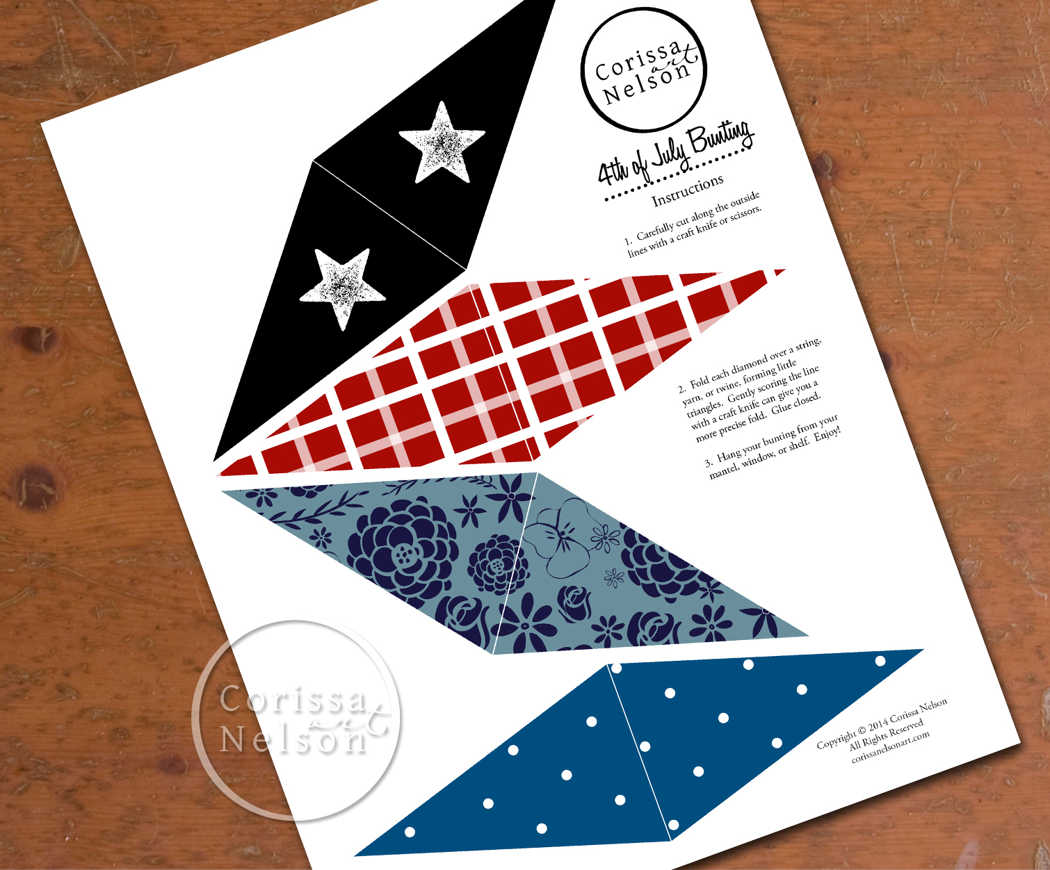 Happy 4th Bunting Free Printable