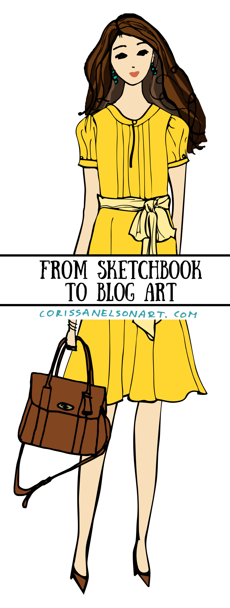 Artwork created for The Yellow Dress