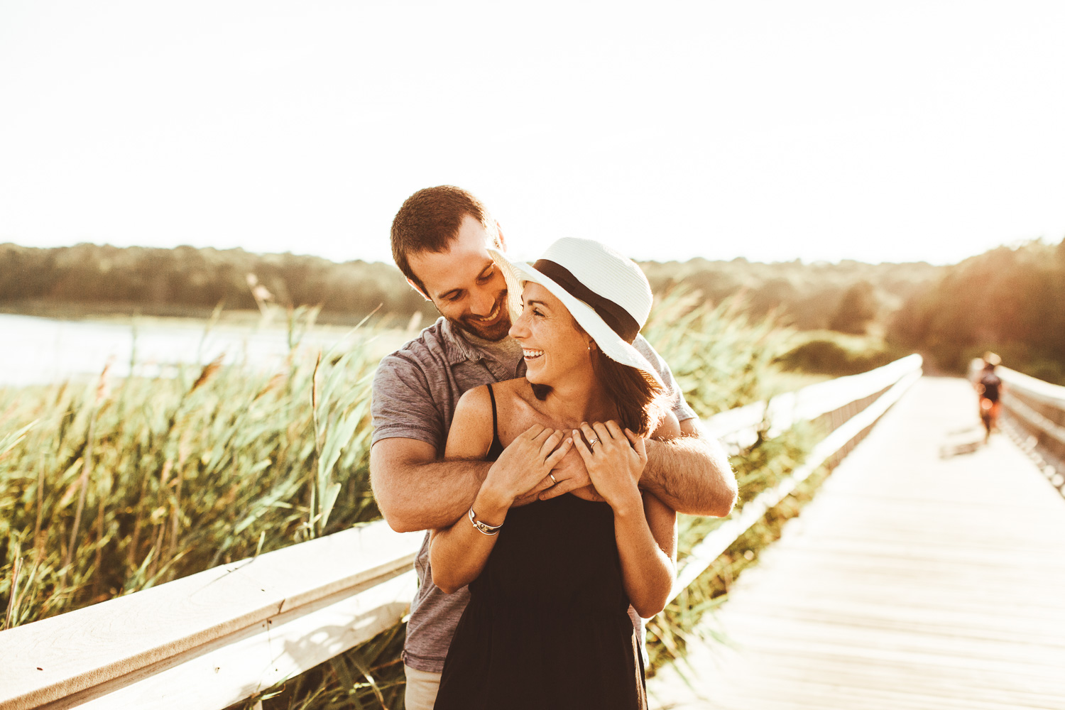Cape Cod Boardwalk Engagement Photos