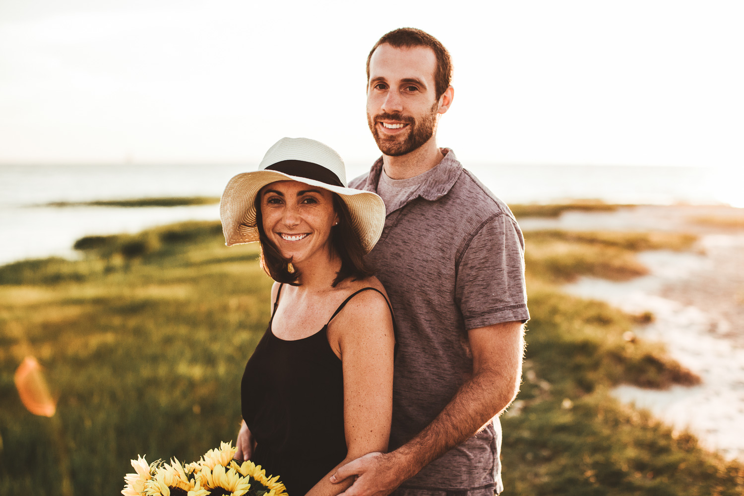 Sunset Engagement Session - Organic Cape Cod Photographer