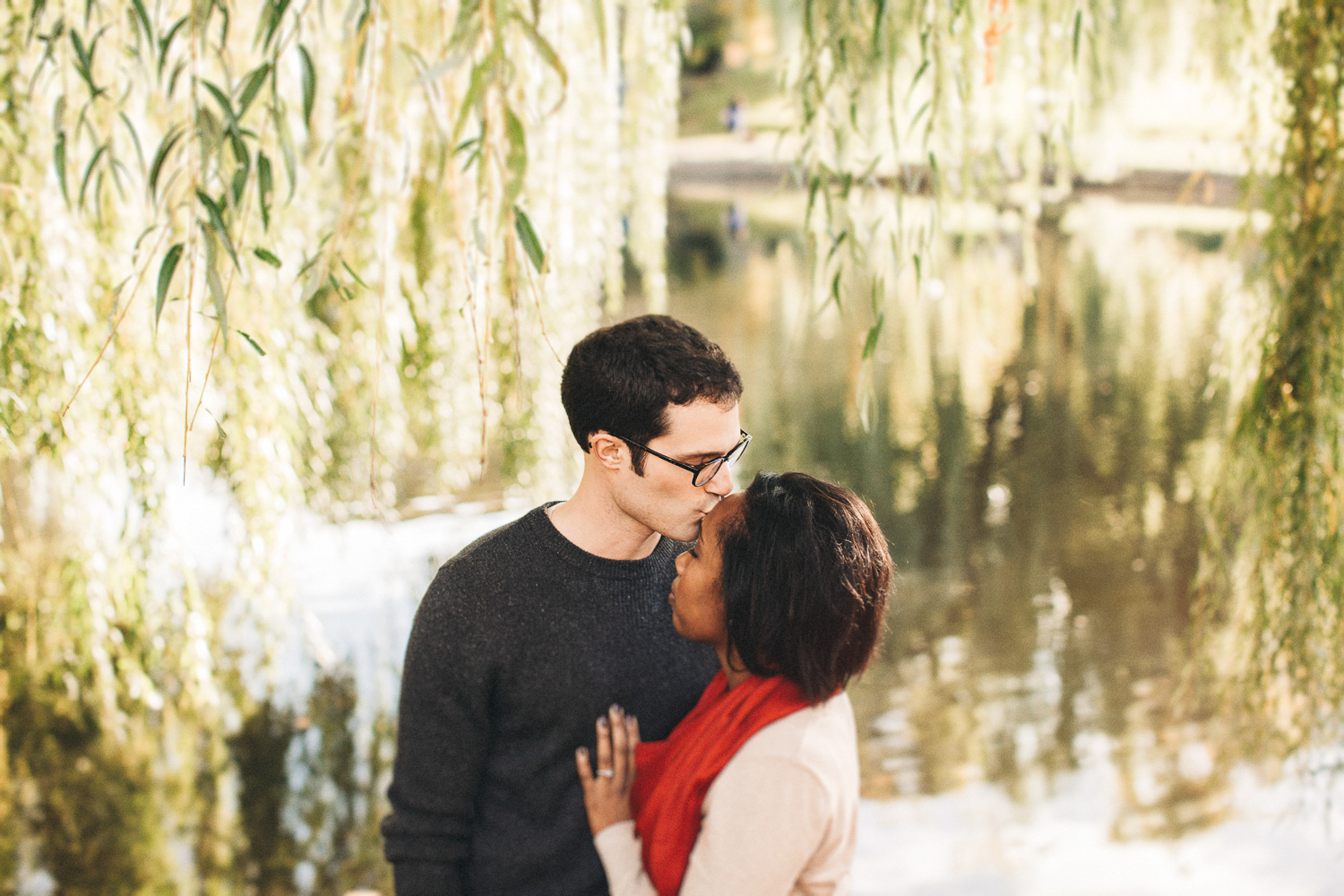 Boston Duck Pond Engagement Session