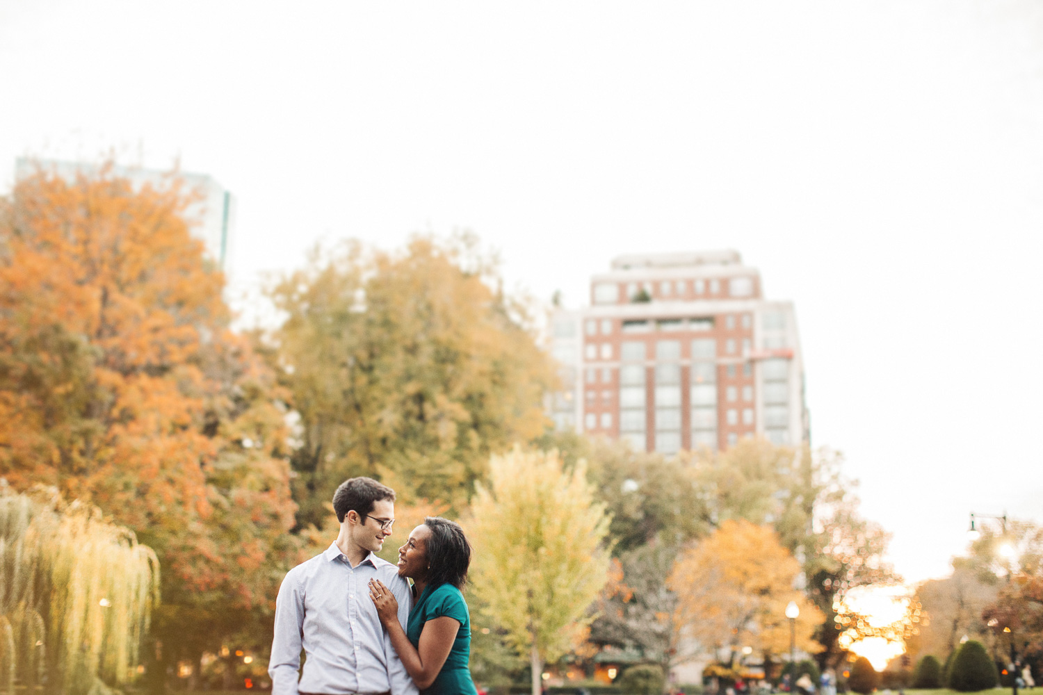 City Styled Boston Engagement Pictures