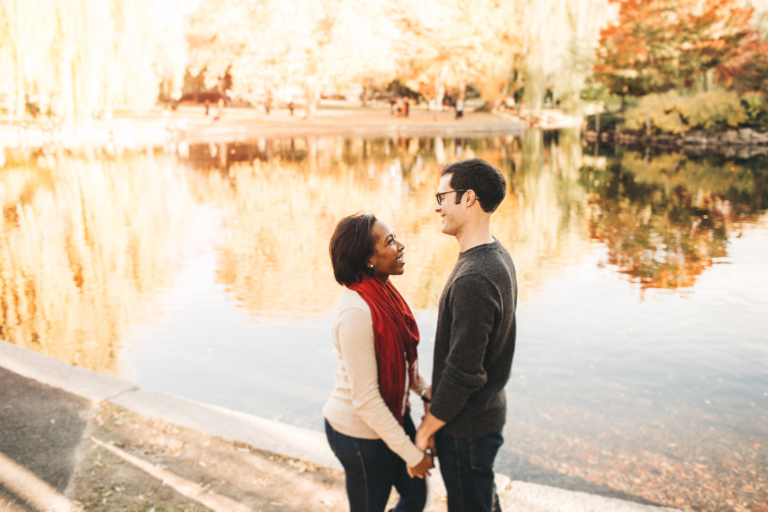 Boston Commons - Engagement Photographers