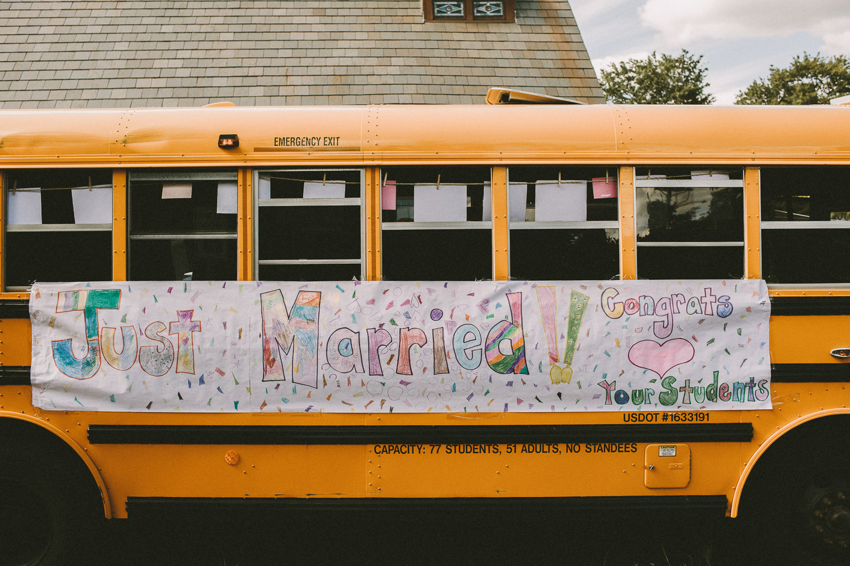 Wedding Transportation - School Bus