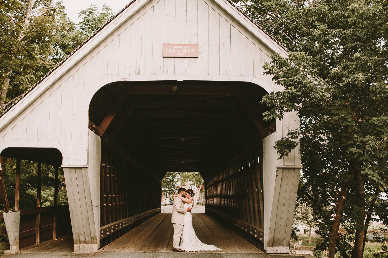 Covered Bridge Wedding Photos - Vermont Photographer